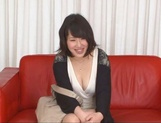 Asian MILF Anna Kishi sucks cock before getting it in her shaved cunt picture 13