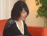Asian MILF Anna Kishi sucks cock before getting it in her shaved cunt picture 15