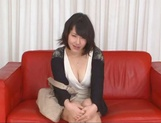 Asian MILF Anna Kishi sucks cock before getting it in her shaved cunt