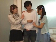 Cute Japanese teen penetrated hard and deep