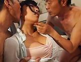 Sankihon Nozomi overworked by two huge dicks