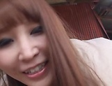 Cute Rei Aimi loves some deep outdoor sex picture 12