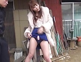 Cute Rei Aimi loves some deep outdoor sex picture 13
