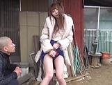 Cute Rei Aimi loves some deep outdoor sex picture 14