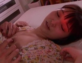 Hot teen gal with saved pussy Iku Natsumi gets licked and nailed picture 15