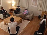 Aya Miyazaki, nice Asian teen is into a hardcore gangbang picture 3