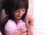 Young cheerleader Cecil Fujisaki made to suck cock then fucked