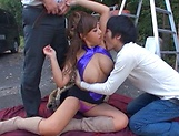 Yuu Sakura gets nailed in a steamy threesome picture 7