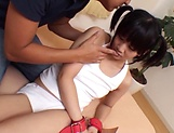 Sexy Asian teen banged to her delight picture 2