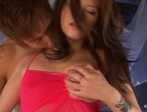 Flawless AV model i pink stockings Miyu Sakurai gets oiled and slammed