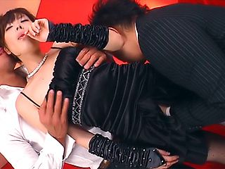 Sexy hottie Yuki gets licked and fucked by two horny guys