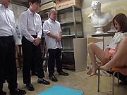 Two cocks is a charm for sexy babe Kirishima Rino