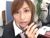 Savory Asian doll Akari Asahina giving head picture 11