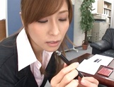 Savory Asian doll Akari Asahina giving head picture 14