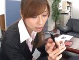 Savory Asian doll Akari Asahina giving head picture 15