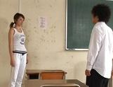 Hot Japanese teacher Kanou Juri fucked hard from behind picture 11