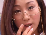 Kinky female teacher Shizuku Morino sucks and rides dick on pov picture 11