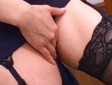 Kinky female teacher Shizuku Morino sucks and rides dick on pov picture 28