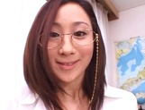 Kinky female teacher Shizuku Morino sucks and rides dick on pov picture 44
