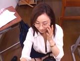 Kinky female teacher Shizuku Morino sucks and rides dick on pov picture 54
