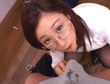 Kinky female teacher Shizuku Morino sucks and rides dick on pov picture 59