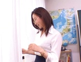 Kinky female teacher Shizuku Morino sucks and rides dick on pov picture 7