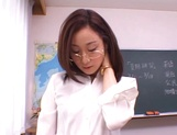 Kinky female teacher Shizuku Morino sucks and rides dick on pov picture 8