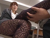 Asian teacher, Hatano Yui, gets frisky with a younger guy picture 13