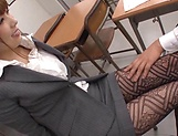 Asian teacher, Hatano Yui, gets frisky with a younger guy picture 15