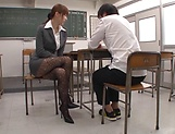 Asian teacher, Hatano Yui, gets frisky with a younger guy