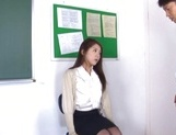 Naughty Japanese teacher Hikari Nishino  is fucked properly picture 11