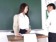 Naughty Japanese teacher Hikari Nishino  is fucked properly