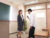 Lovely teacher enjoys being nailed