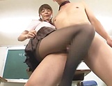 Lusty Asian schoolgirl gives sexy head and footjob picture 11