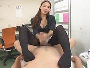 Incredible Asian teacher gives sexy handjob
