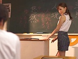 Naughty Fuyutsuki Kaede fulfills young studs picture 12