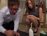 Busty teacher Kirishima Rino fucked and creamed
