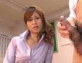 Stunning Japanese teacher Akari Asahina fucks her horny male student picture 12