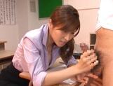 Stunning Japanese teacher Akari Asahina fucks her horny male student