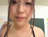Big boobies Japanese teacher in glasses getting screwed in POV picture 13