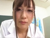 Big boobies Japanese teacher in glasses getting screwed in POV picture 2
