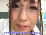 Big boobies Japanese teacher in glasses getting screwed in POV picture 7