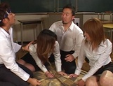 Group sex Japanese experience for Azusa Isshiki