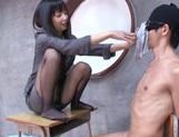Horny Tsumugi Serizawa uses her feet fucking like mad picture 13