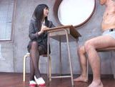 Horny Tsumugi Serizawa uses her feet fucking like mad