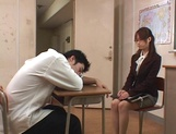 Sexy teacher Akiho Yoshizawa spreads legs for a tasty dick in her twat