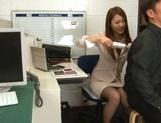 Sexy long-haired teacher Hikari Nishino enjoys cock sucking and hot fuck picture 12