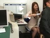 Sexy long-haired teacher Hikari Nishino enjoys cock sucking and hot fuck picture 14