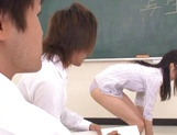 Sexy Tokyo teacher Airi Mikami strips and gets banged by her students picture 15