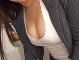 Busty teacher Makise Ai knows handle cocks picture 2